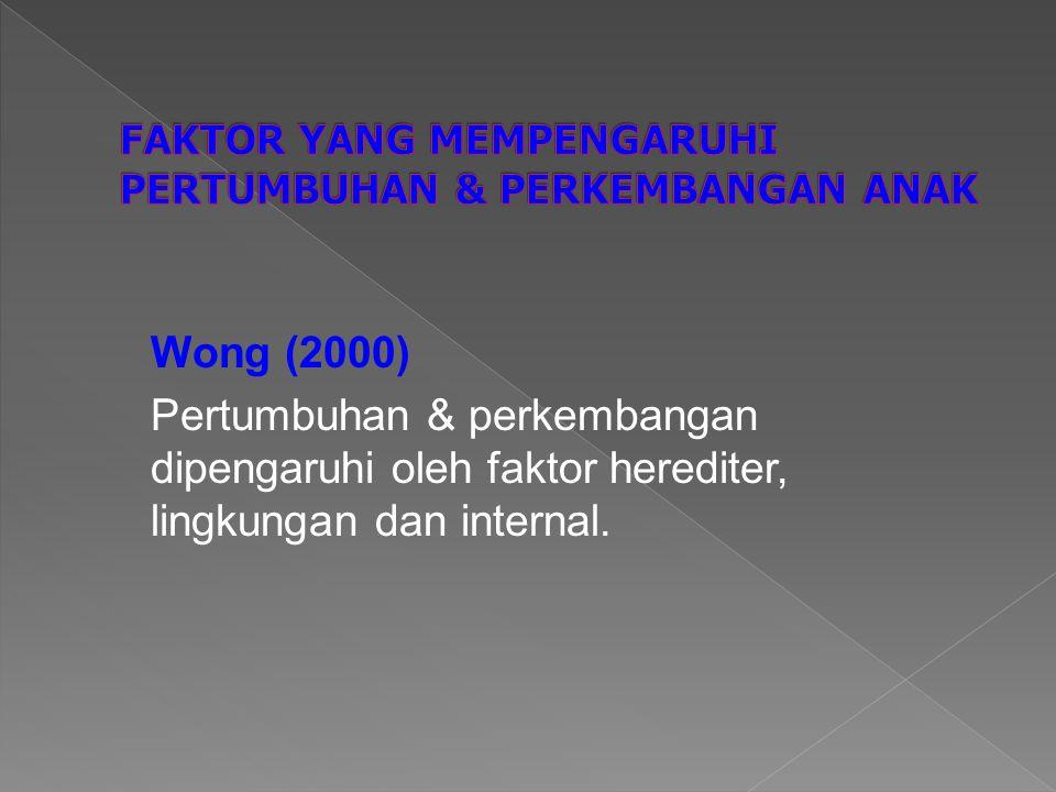 FAKTOR YANG MEMPENGARUHI PERTUMBUHAN & PERKEMBANGAN ANAK