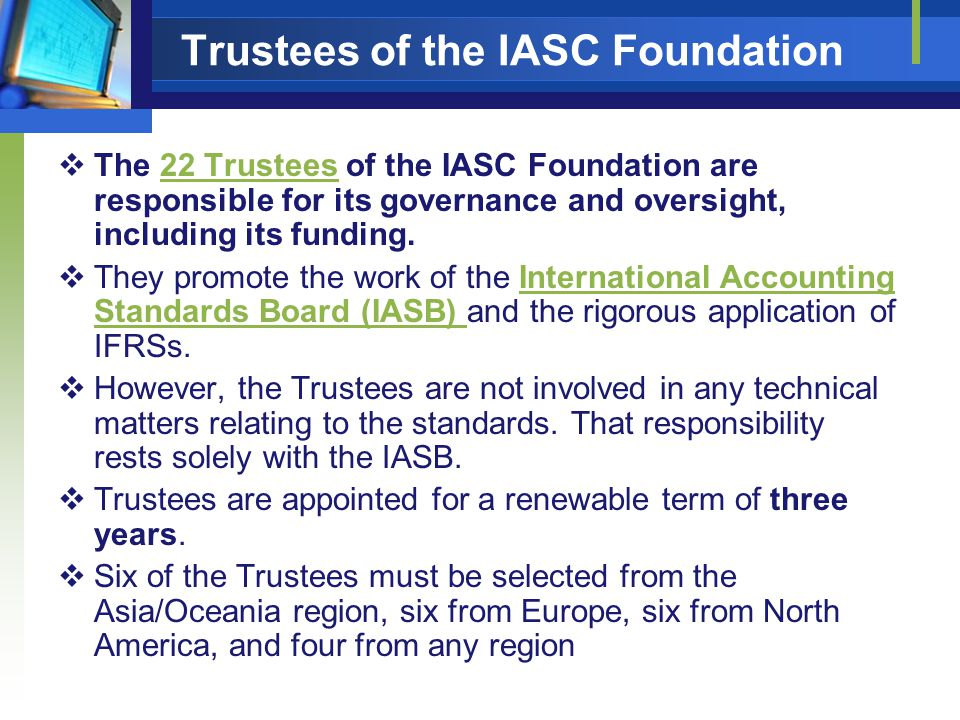 Trustees of the IASC Foundation
