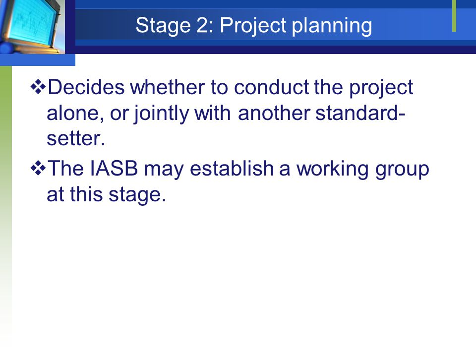 Stage 2: Project planning
