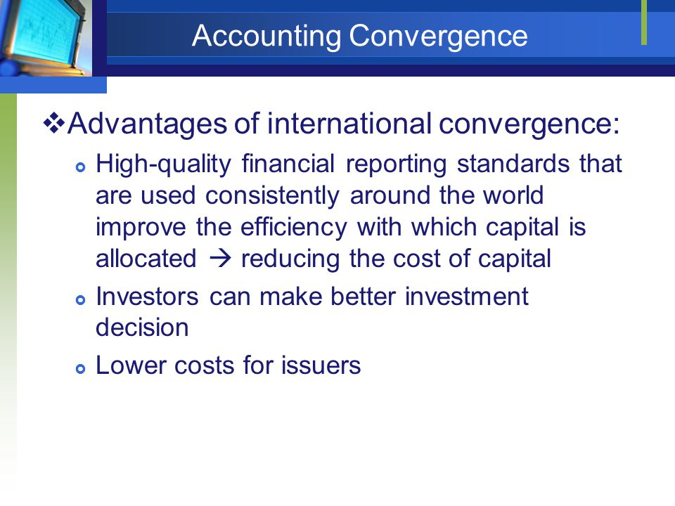 Accounting Convergence