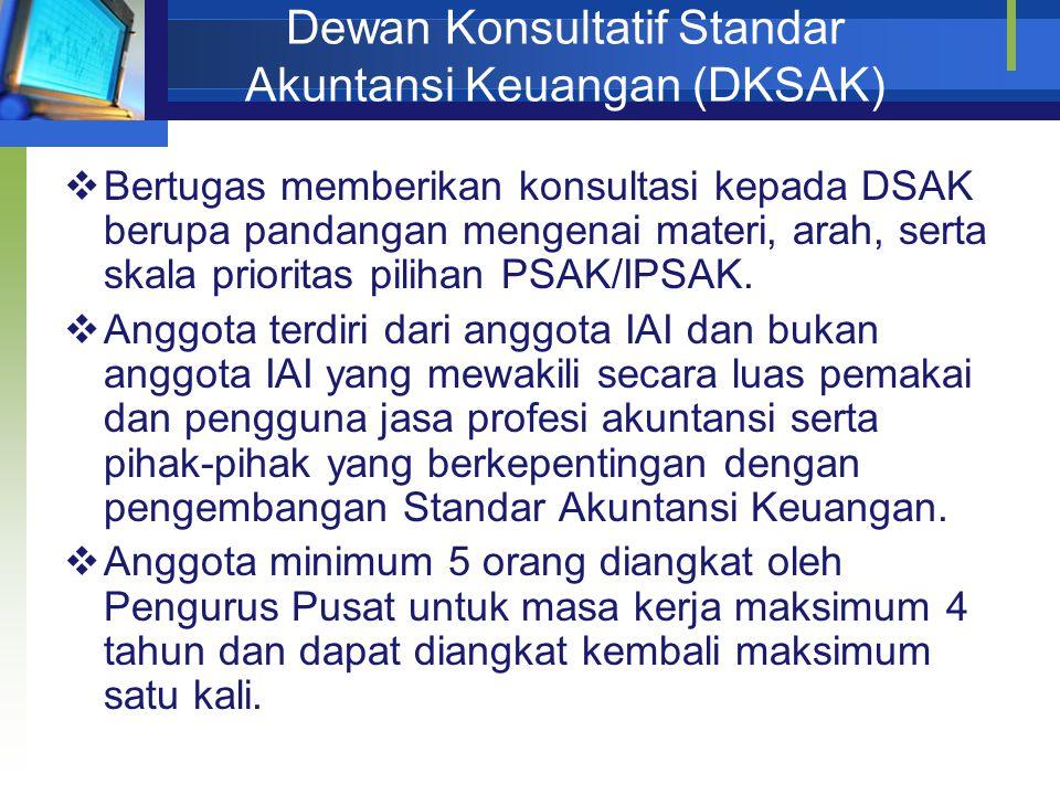 Dewan Konsultatif Standar Akuntansi Keuangan (DKSAK)