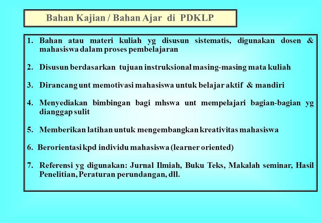 Bahan Kajian / Bahan Ajar di PDKLP