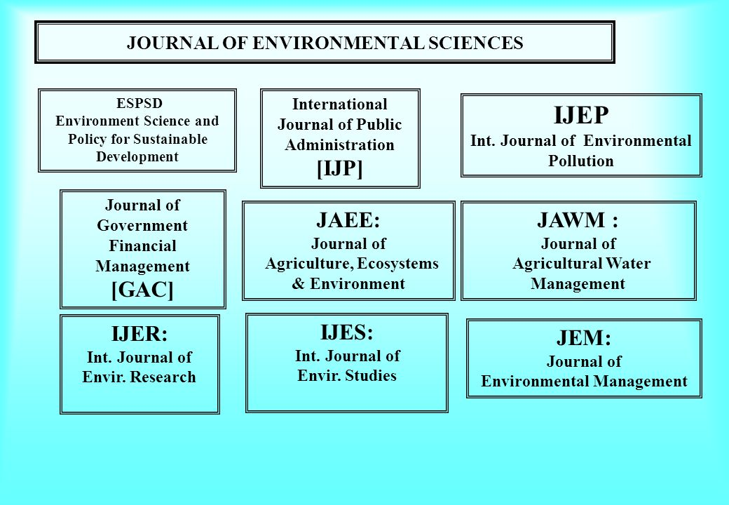 JOURNAL OF ENVIRONMENTAL SCIENCES