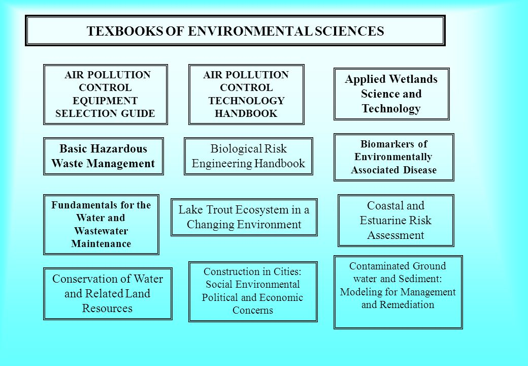 TEXBOOKS OF ENVIRONMENTAL SCIENCES