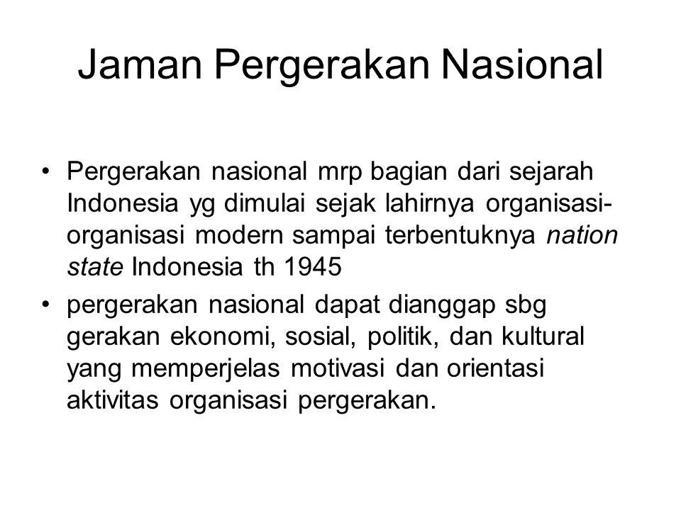 Jaman Pergerakan Nasional