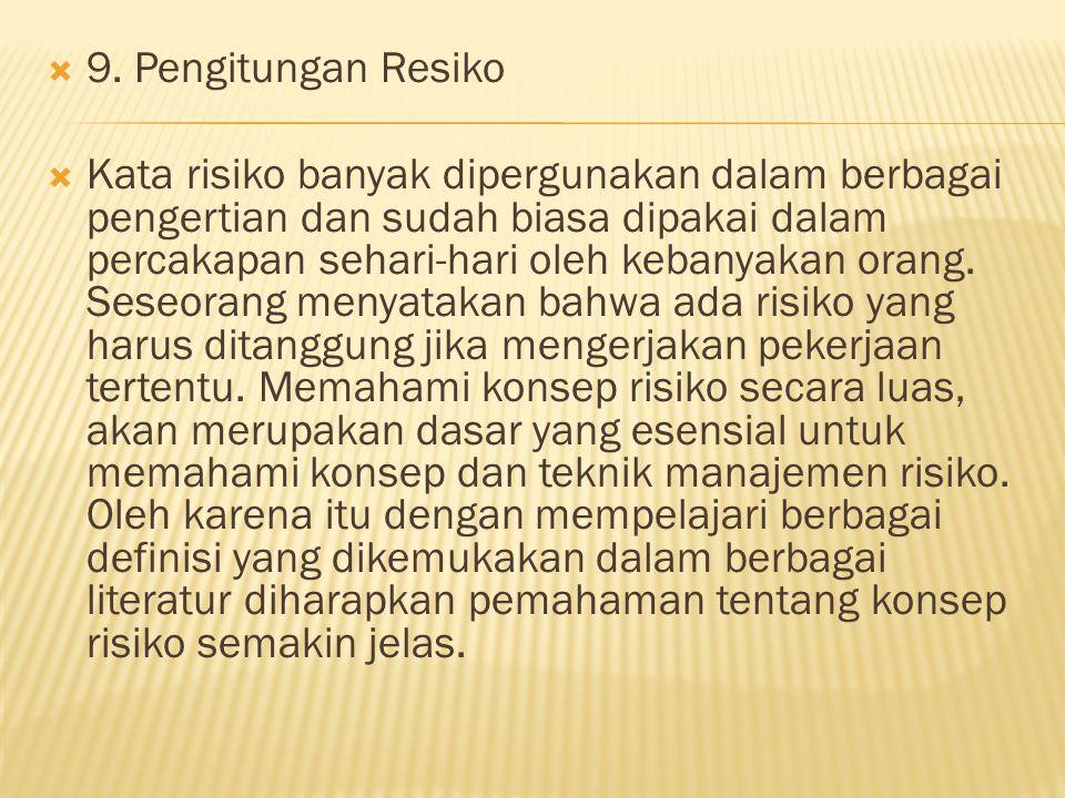 9. Pengitungan Resiko
