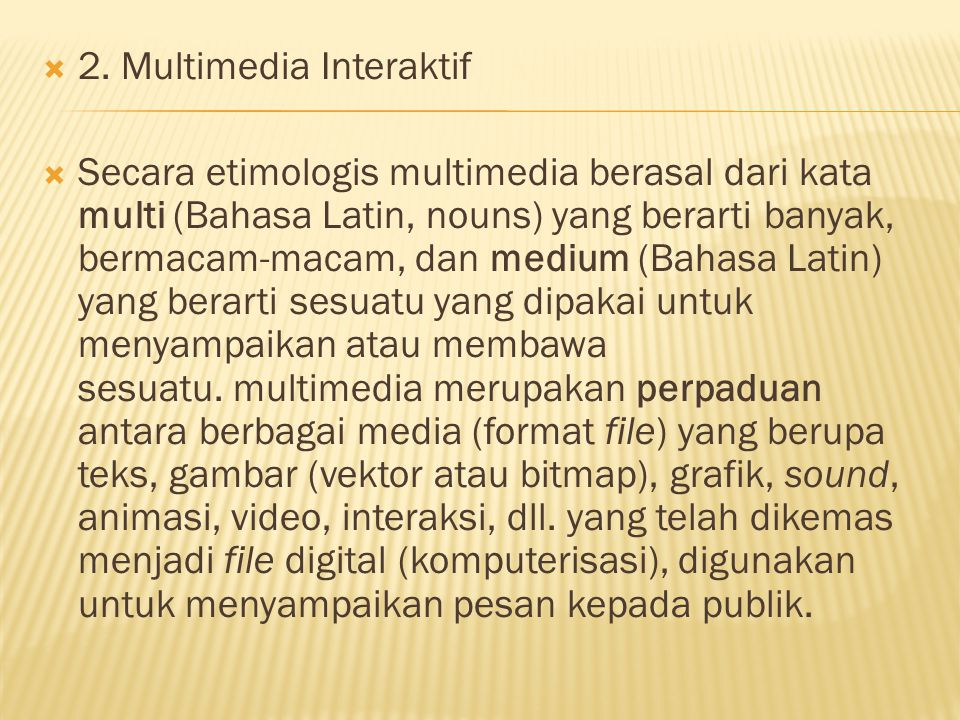 2. Multimedia Interaktif