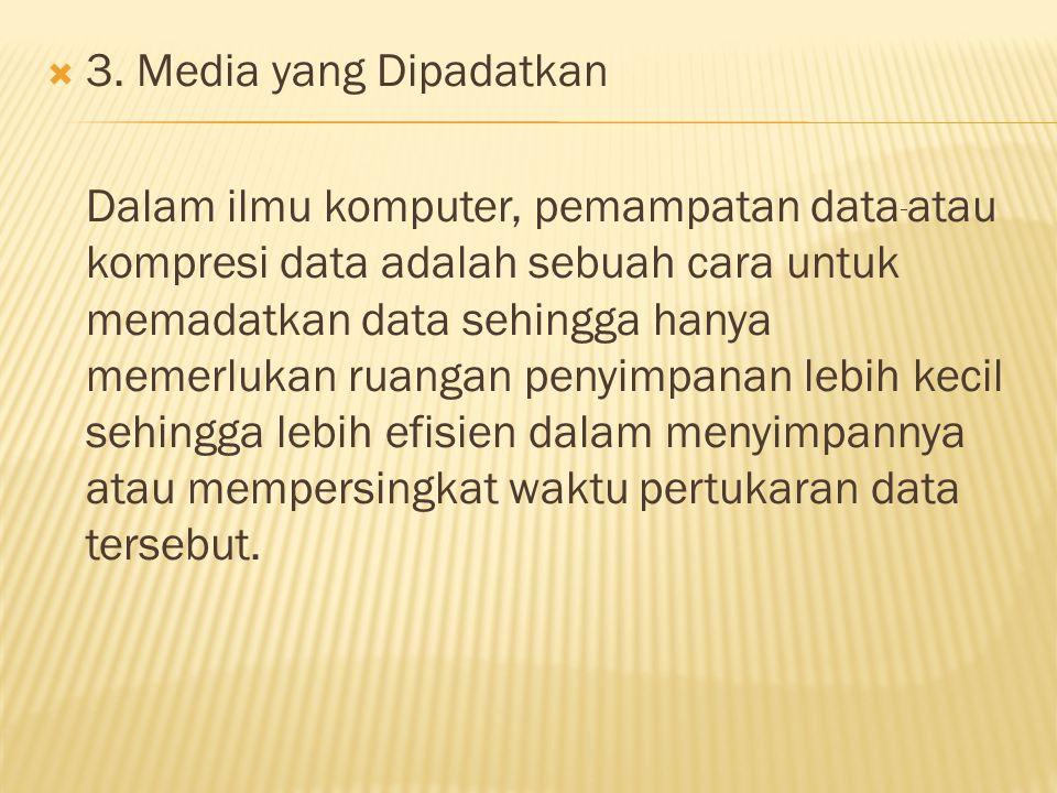 3. Media yang Dipadatkan