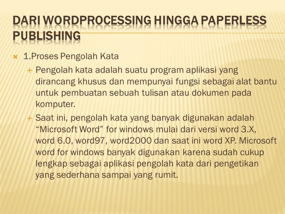 Dari Wordprocessing Hingga Paperless Publishing