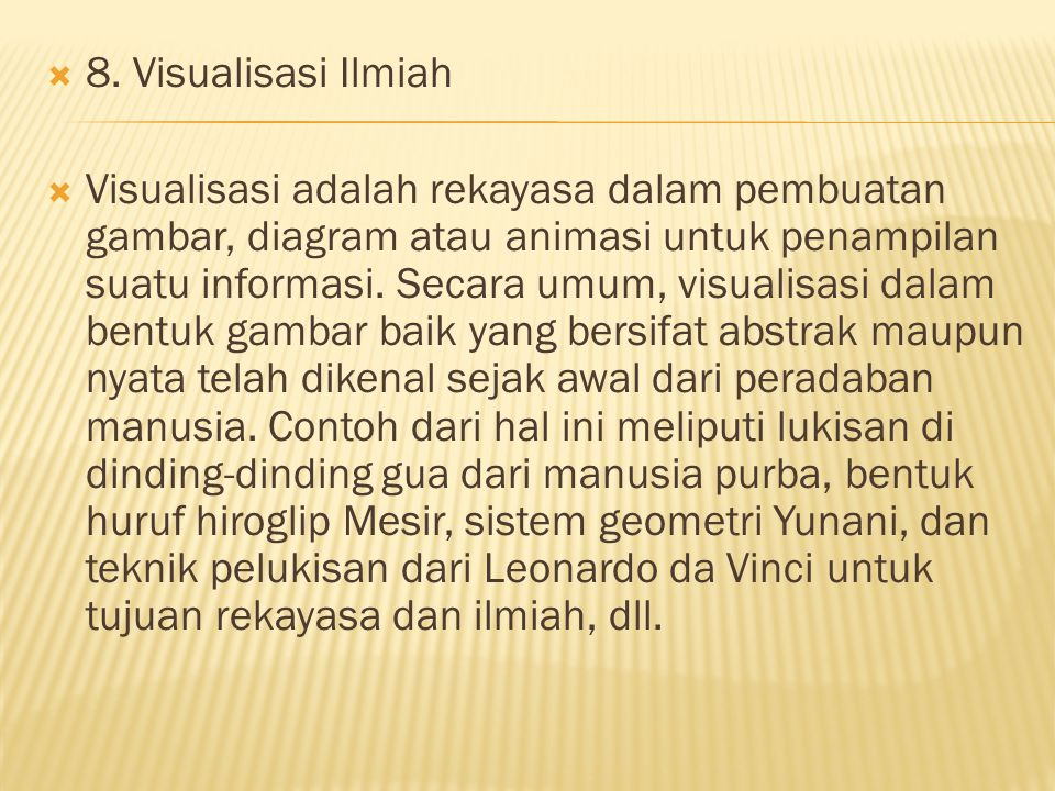8. Visualisasi Ilmiah