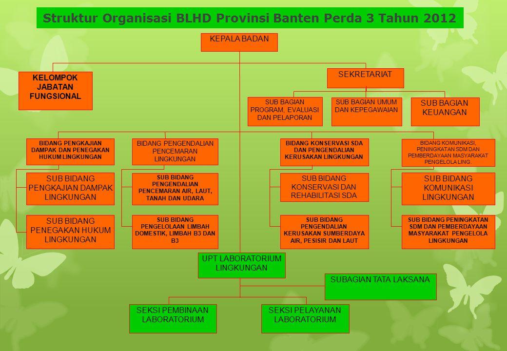 Struktur Organisasi BLHD Provinsi Banten Perda 3 Tahun 2012