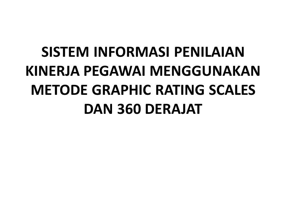 Sistem Informasi Penilaian Kinerja Pegawai Menggunakan Metode Graphic Rating Scales dan 360 Derajat