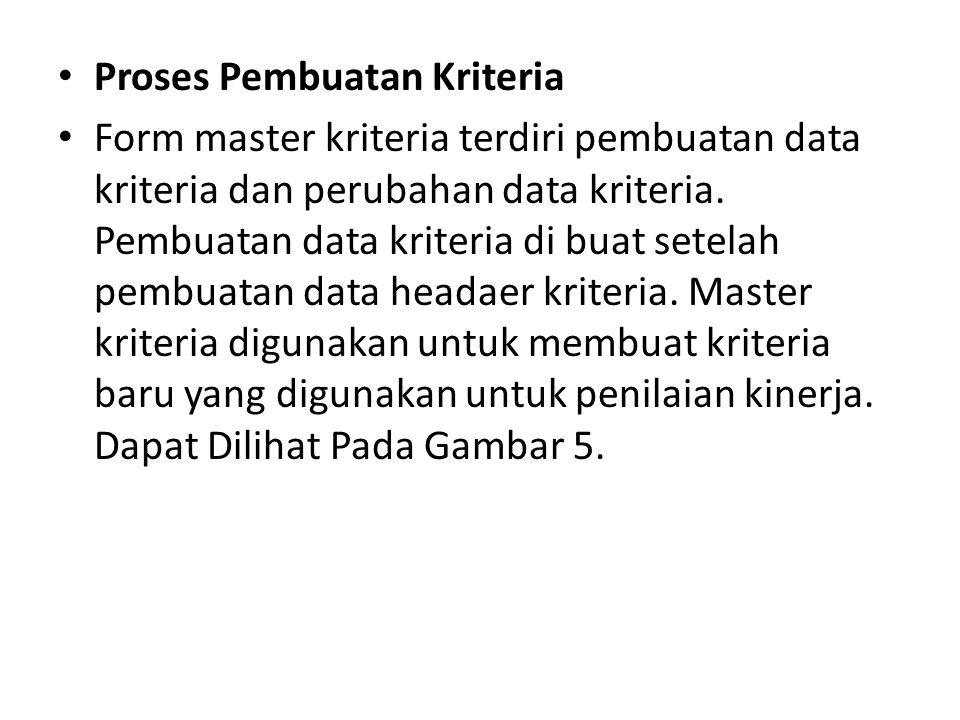 Proses Pembuatan Kriteria