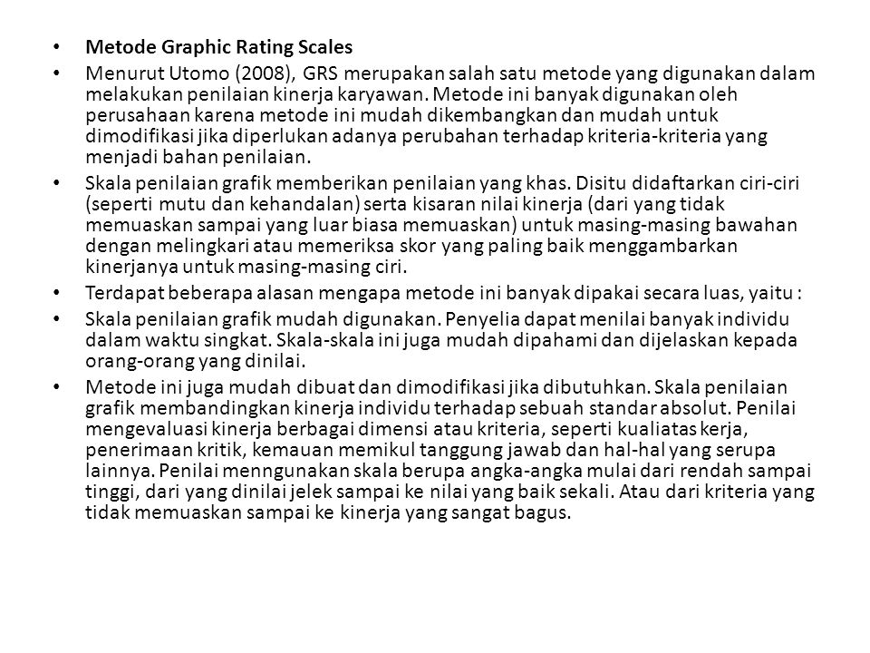 Metode Graphic Rating Scales