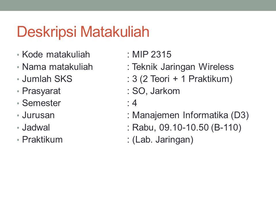Deskripsi Matakuliah Kode matakuliah : MIP 2315