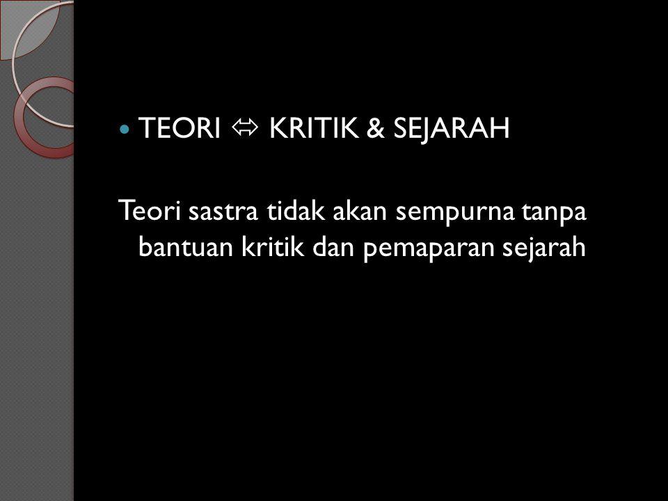 TEORI  KRITIK & SEJARAH