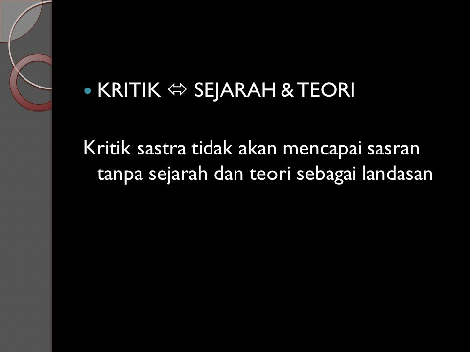 KRITIK  SEJARAH & TEORI