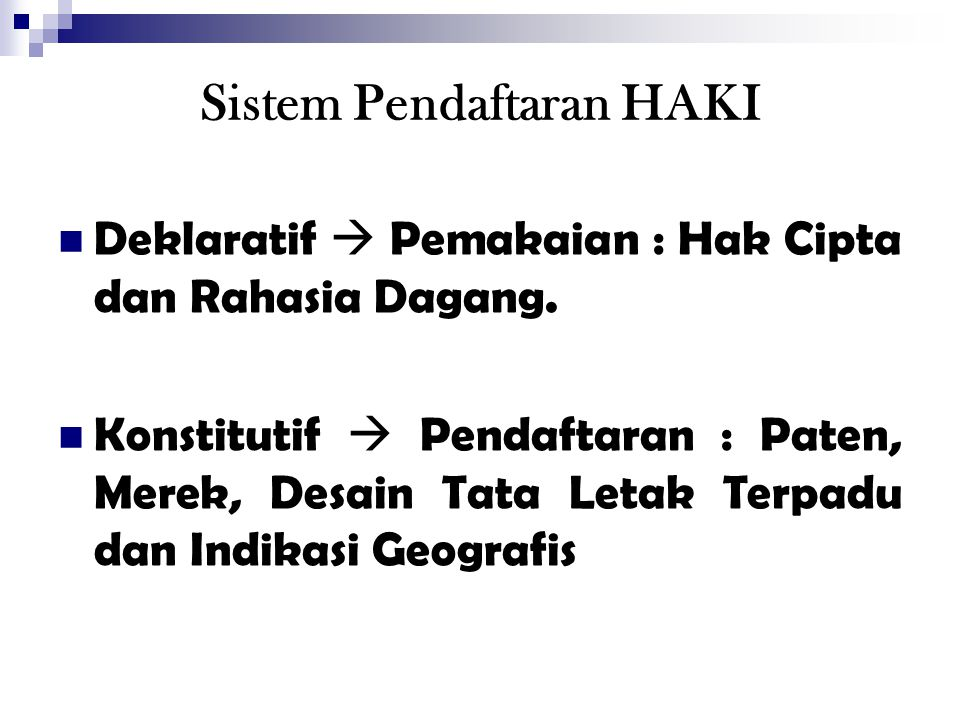 Sistem Pendaftaran HAKI