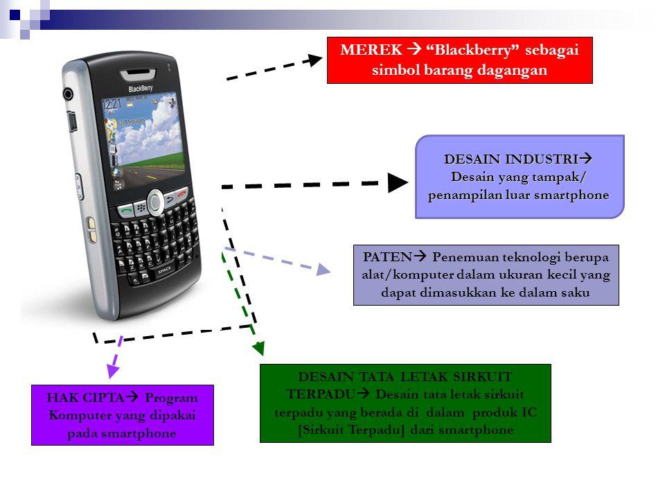 MEREK  Blackberry sebagai simbol barang dagangan