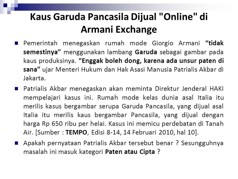 Kaus Garuda Pancasila Dijual Online di Armani Exchange