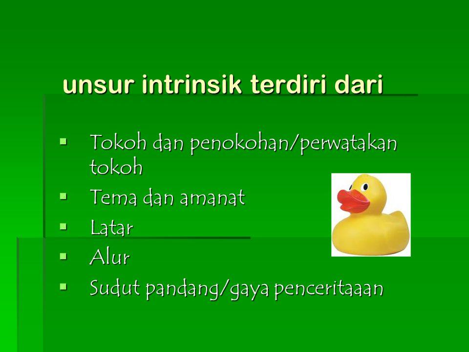 unsur intrinsik terdiri dari