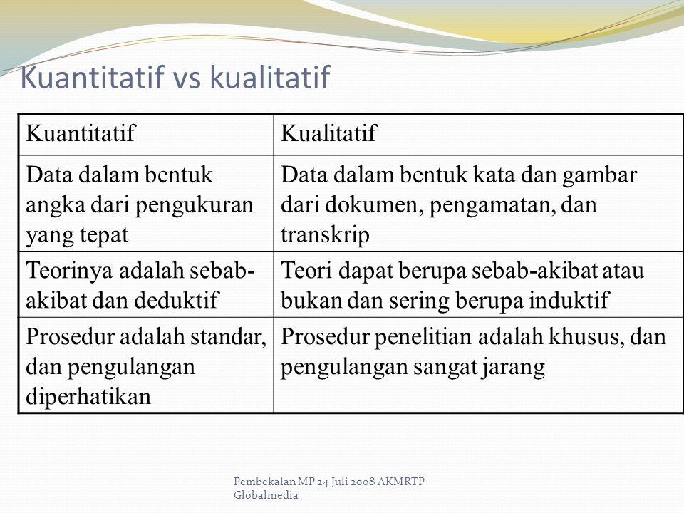 Kuantitatif vs kualitatif
