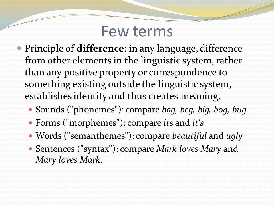 Few terms