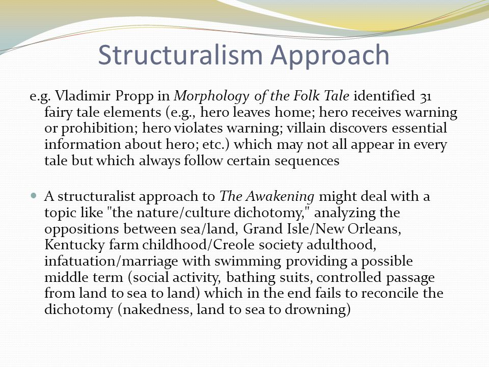 Structuralism Approach