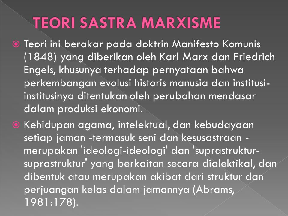 TEORI SASTRA MARXISME