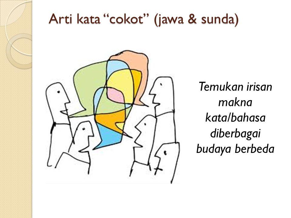 Arti kata cokot (jawa & sunda)
