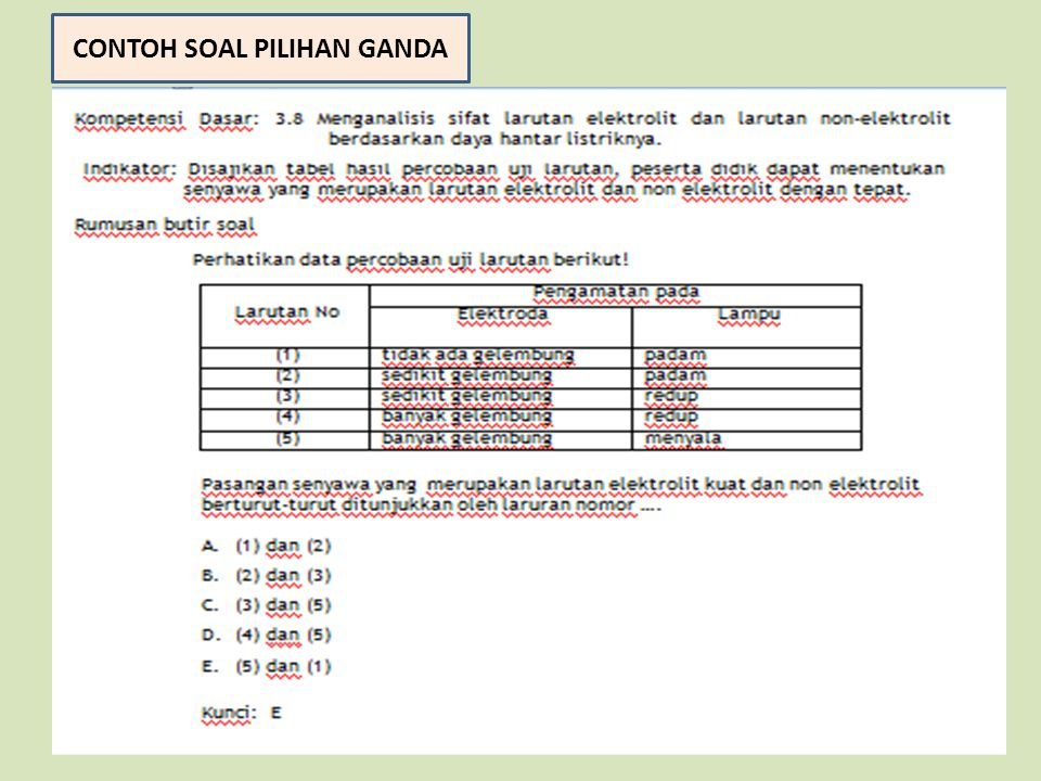 Contoh Soal And Enough Pilihan Ganda