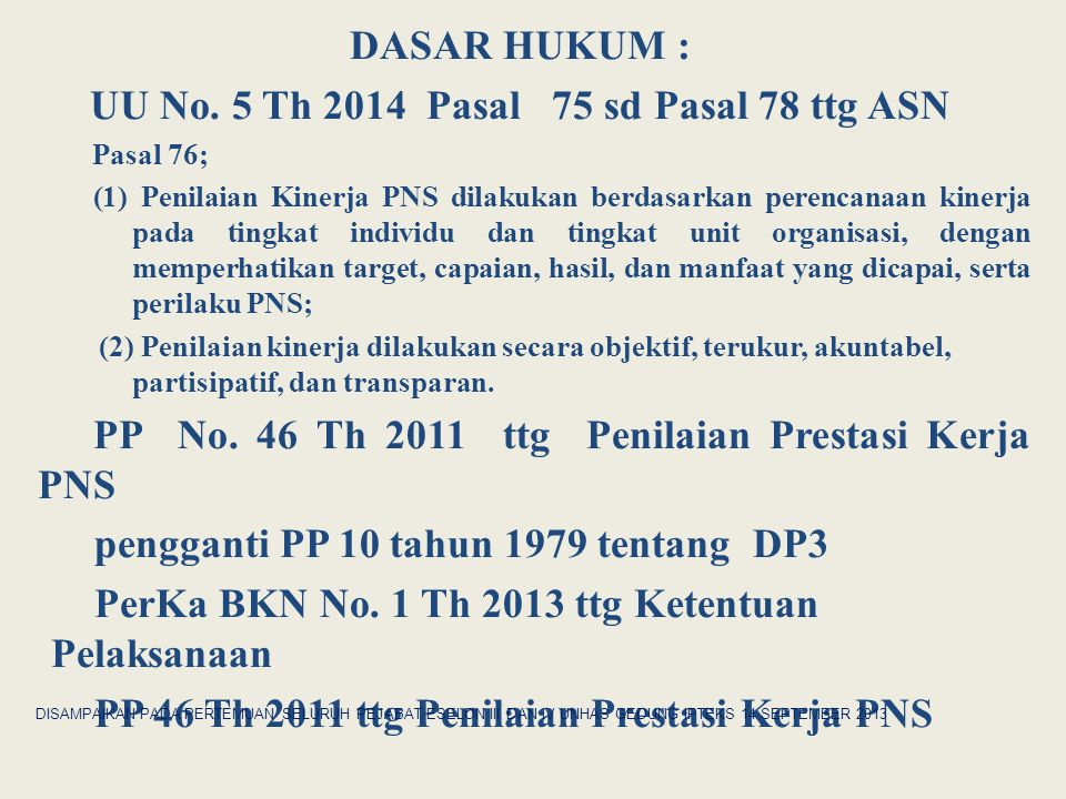 UU No. 5 Th 2014 Pasal 75 sd Pasal 78 ttg ASN