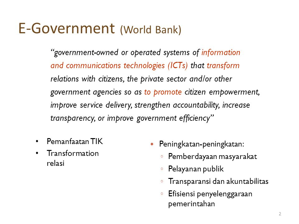 E-Government (World Bank)