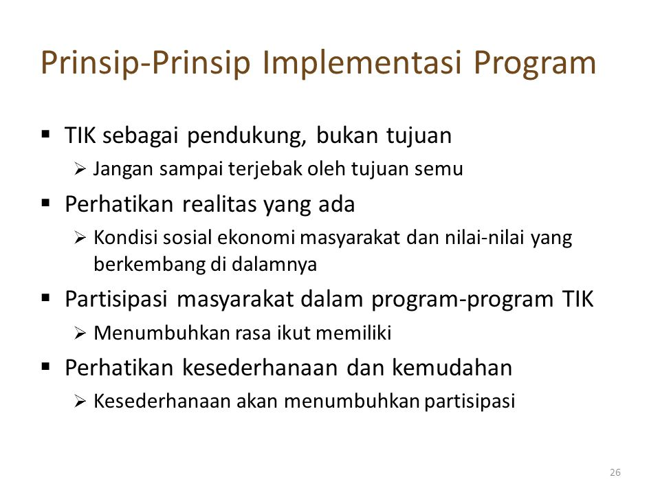 Prinsip-Prinsip Implementasi Program