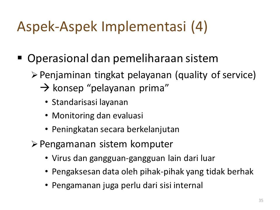 Aspek-Aspek Implementasi (4)