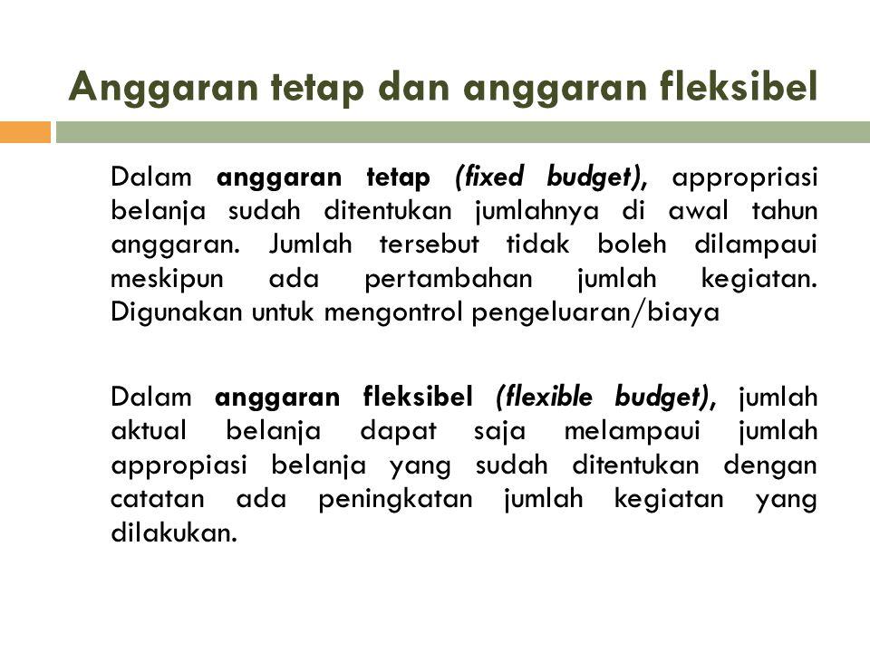 Anggaran tetap dan anggaran fleksibel