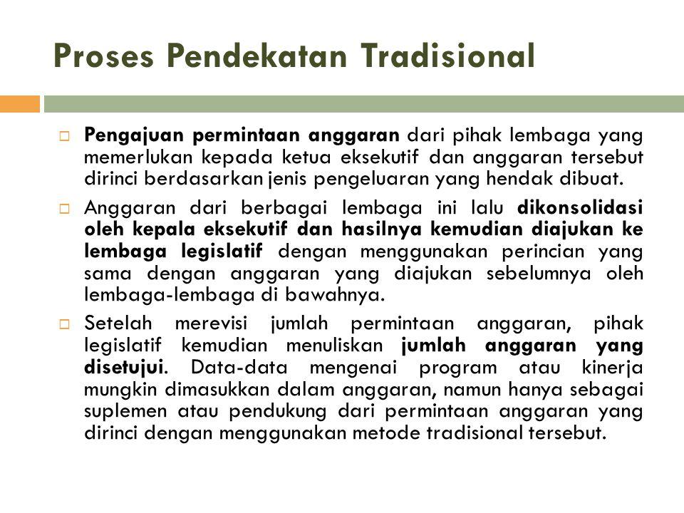 Proses Pendekatan Tradisional