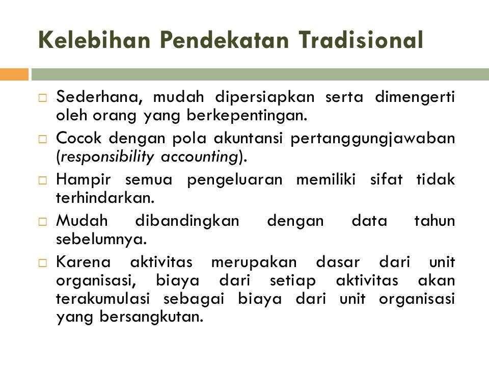 Kelebihan Pendekatan Tradisional