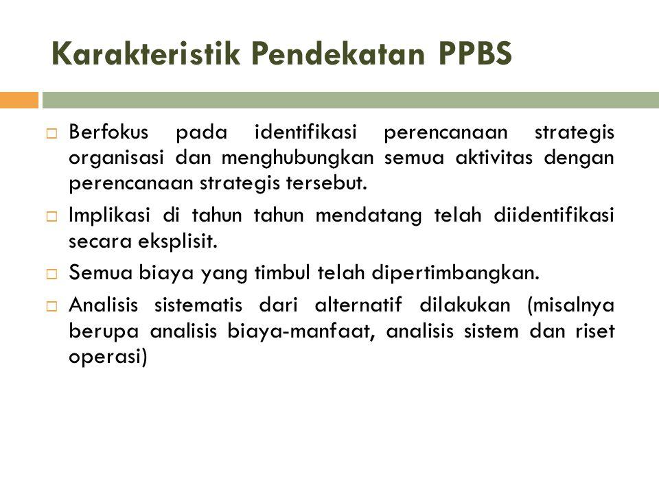 Karakteristik Pendekatan PPBS