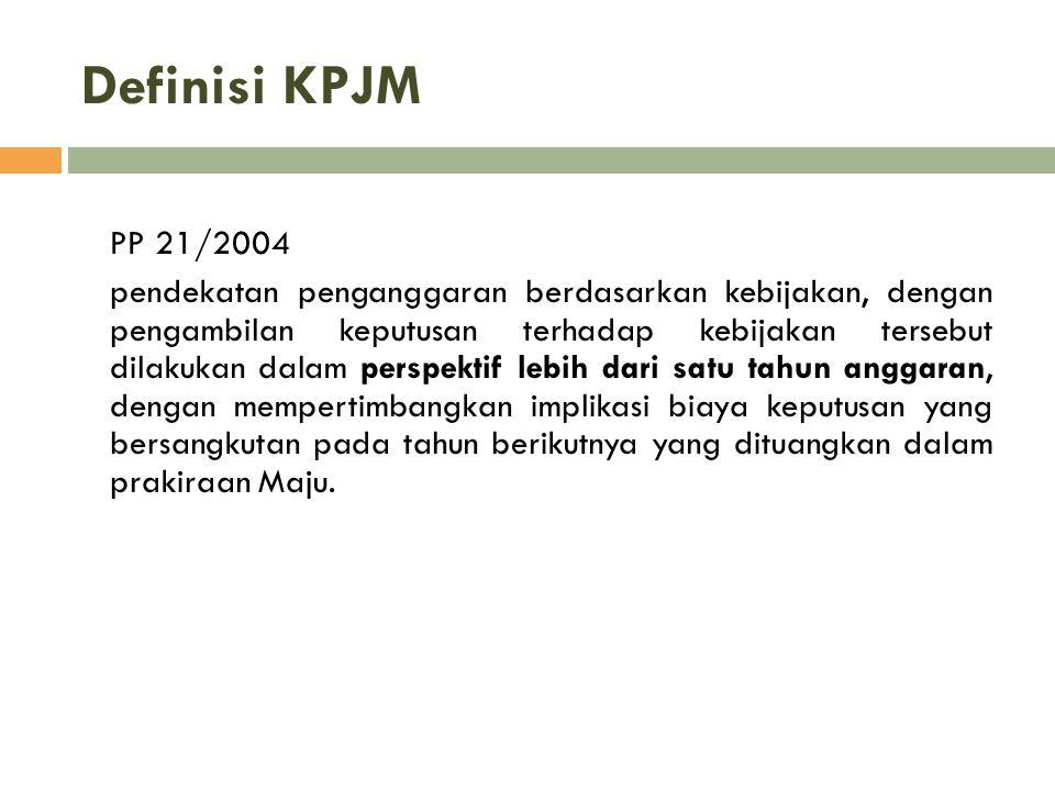 Definisi KPJM PP 21/2004.