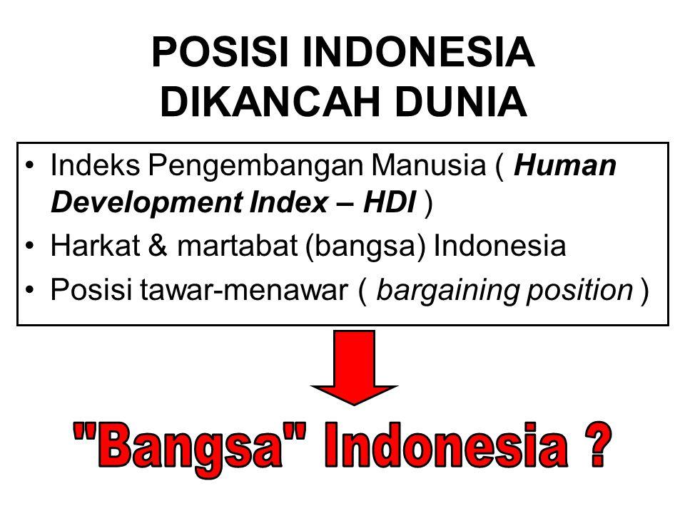 POSISI INDONESIA DIKANCAH DUNIA
