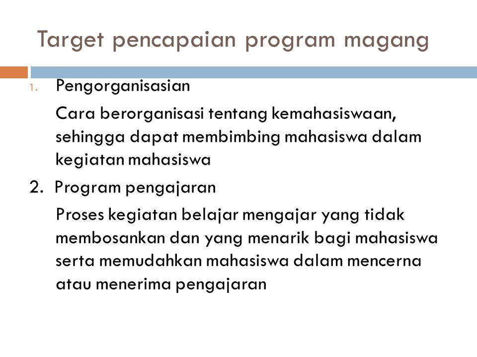 Target pencapaian program magang
