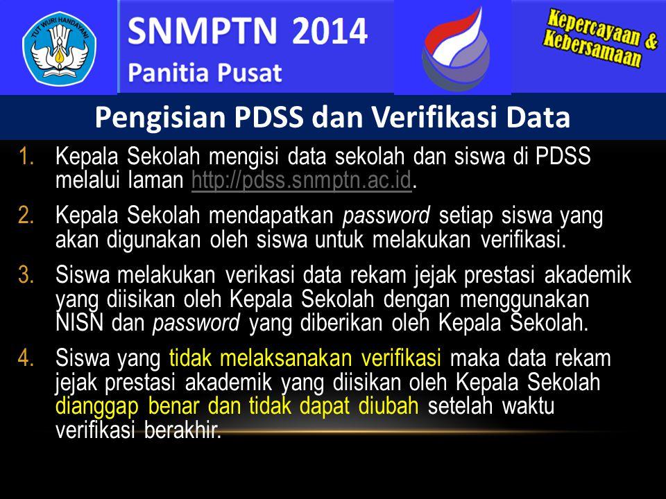 Pengisian PDSS dan Verifikasi Data