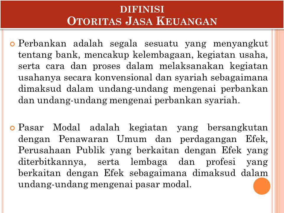 difinisi Otoritas Jasa Keuangan