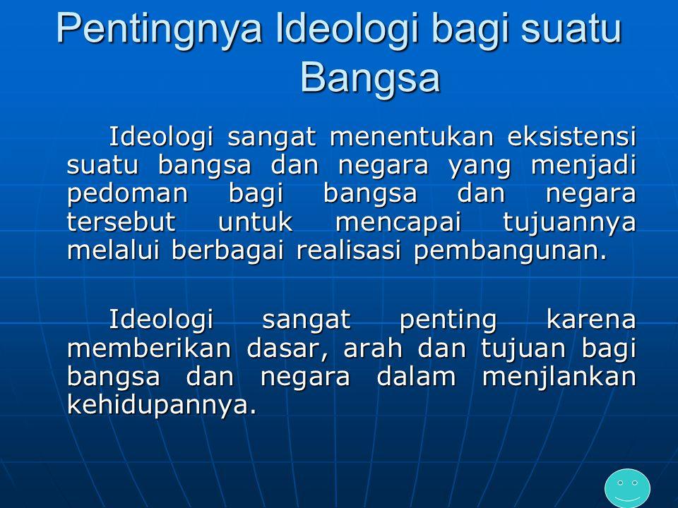 Pentingnya Ideologi bagi suatu Bangsa