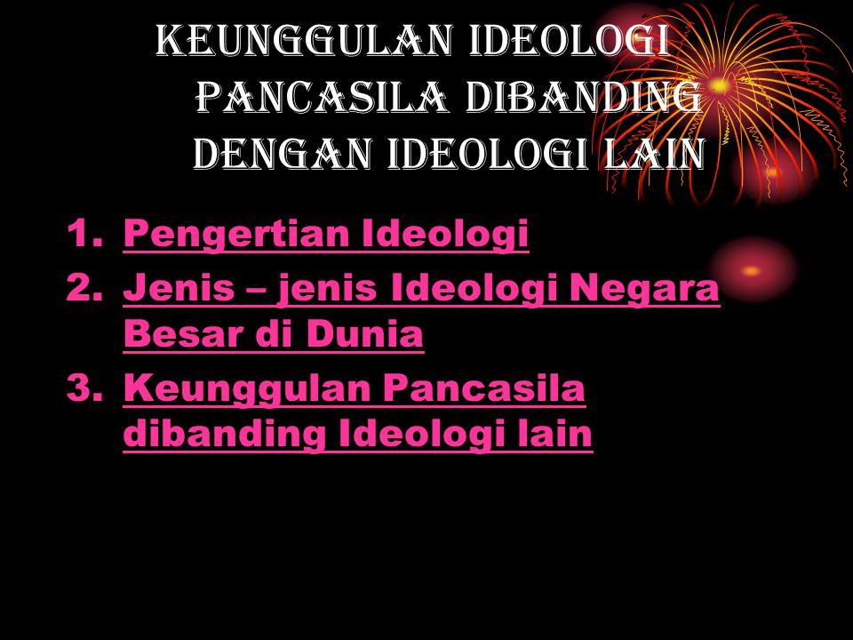 Keunggulan Ideologi Pancasila dibanding dengan Ideologi lain