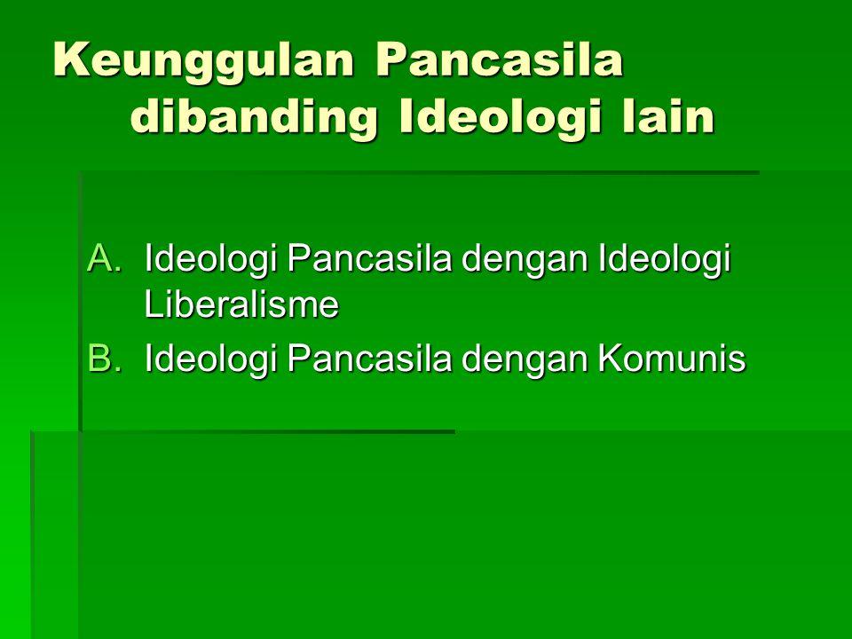 Keunggulan Pancasila dibanding Ideologi lain