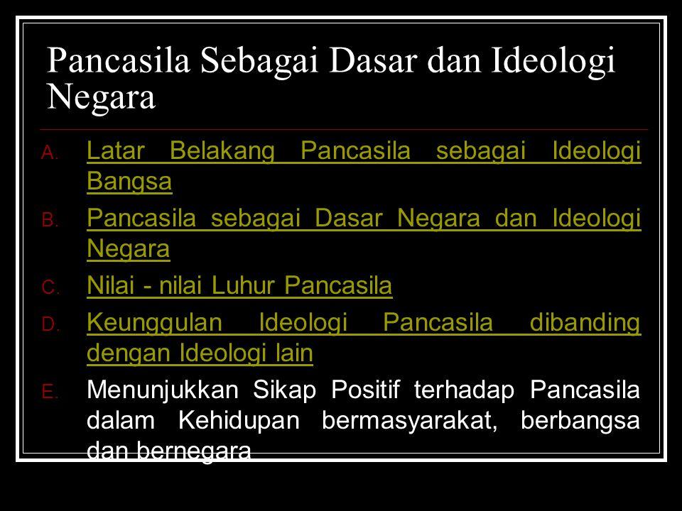 Pancasila Sebagai Dasar dan Ideologi Negara