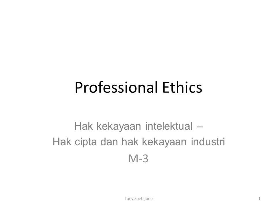 Hak kekayaan intelektual – Hak cipta dan hak kekayaan industri M-3