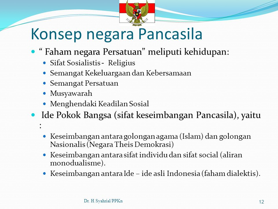 Konsep negara Pancasila